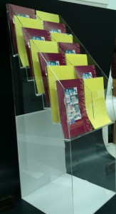 A4 acrylic brochure display