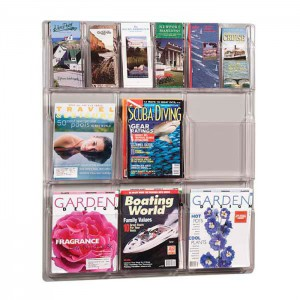 acrylic brochure shelving